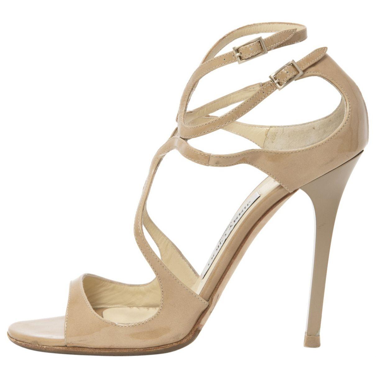 f42d71ed4 JIMMY CHOO Beige Patent leather Sandals