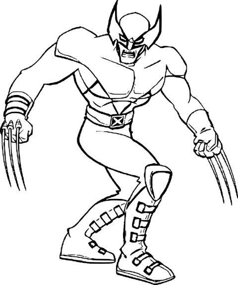 Coloriage X Men Wolverine Coloriage Coloriage Pat Patrouille Pochoir Oiseau