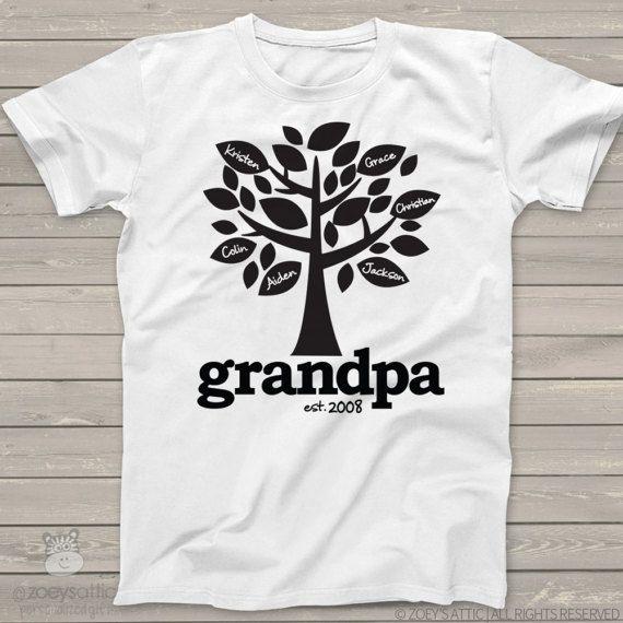 2fb2c7a9a1c66 Grandpa shirt - family tree grandpa established t-shirt personalized ...