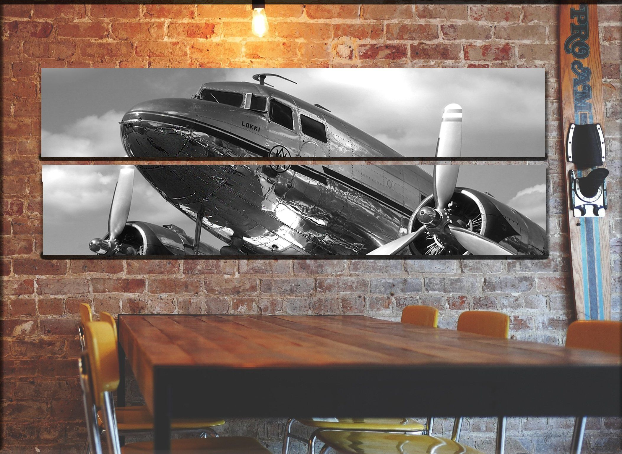 Large Vintage Airplane Wall Art Decor Vintage Aircraft Picture On Canvas Panels Aviation Wall Art Airplane Wall Art Vintage Airplane Wall Art Etsy Wall Art