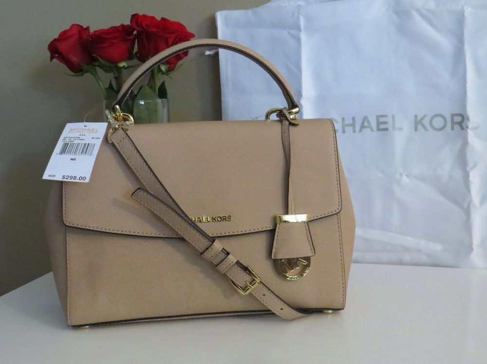 481de9a915833d Michael Kors Ava Medium Satchel Cross Body Blush Nude Saffiano Leather NWT  $298! #MichaelKors #Satchel. Find this Pin and more on Michael Kors Purses  ...