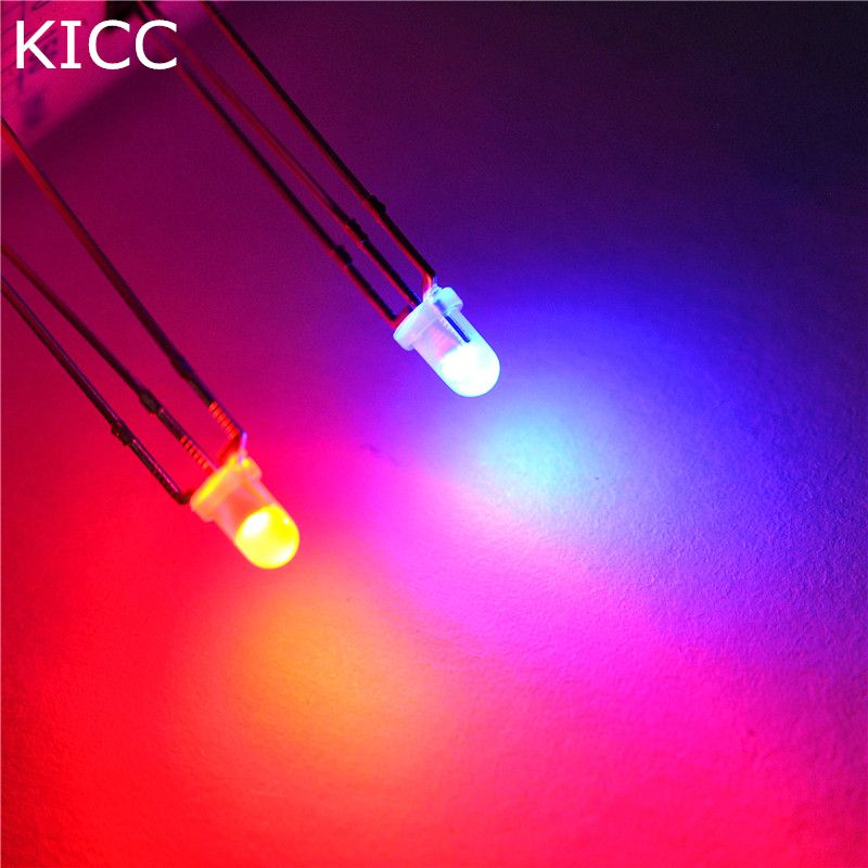 1000 Light Emitting Diode Mist 3mm Double Color Common Cathode