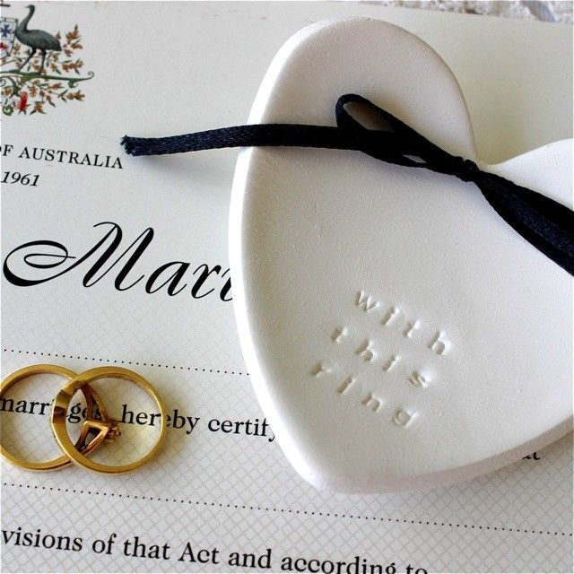 with this ring so gorgeous customised wedding ring keeper embossed clay dish - Wedding Ring Dish