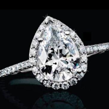 Pear-Shaped Diamond Halo Ring | Aston Royal