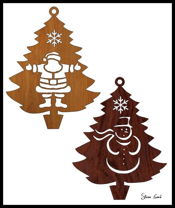 Scrollsaw Workshop: Four Christmas Tree Ornaments Scroll Saw Patterns. - Four Christmas Tree Ornaments Scroll Saw Patterns. Christmas