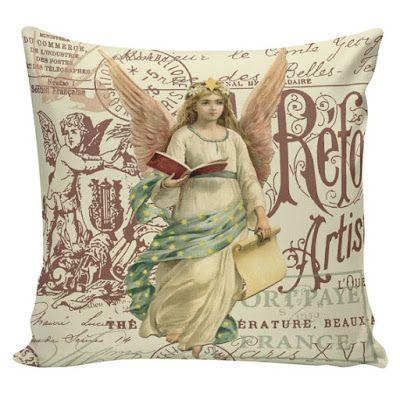 Christmas Shopaholic: Charming Vintage Style Burlap Christmas Home Decor Pillows