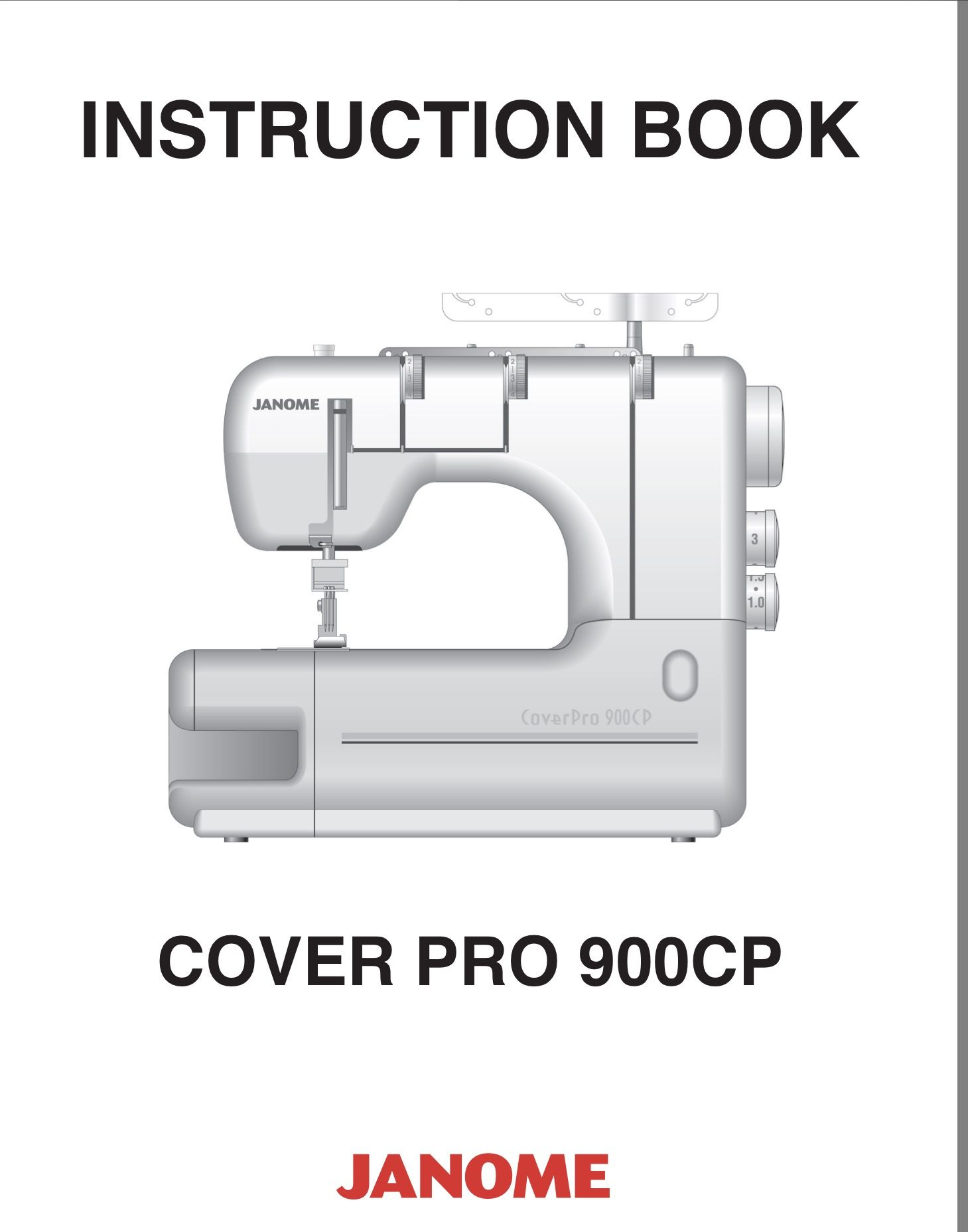 Cover Pro 900CP Manual Janome, Manual, Textbook