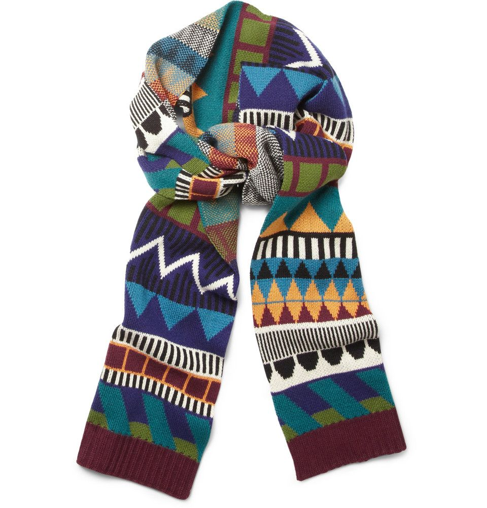 This tribal-inspired multi-coloured scarf from Burberry Prorsum will bring  a riot of vibrant colour and pattern to a winter look. The bold design will  bring ... c9da5767a31