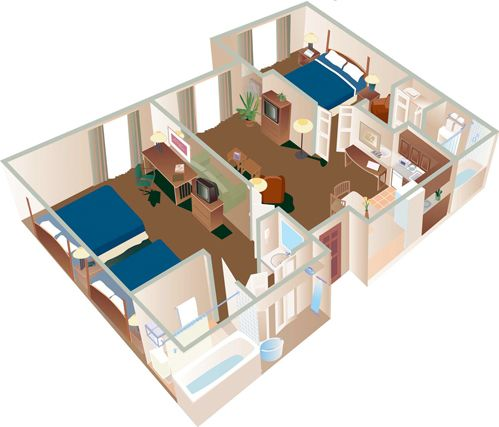 2 Bedroom Suite One Bedroom With 2 Doubles One Bedroom With 1 King Central Living Room Kitchen Stay Sofa Bed Bedroom Diy Sofa Bed Sofa Bed Living Room