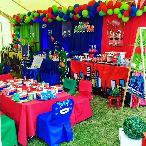 Pj Mask Party Decorations Fair Pj Mask Birthday Party Ideas  Pj Mask Pj And Birthday Party Ideas Design Inspiration