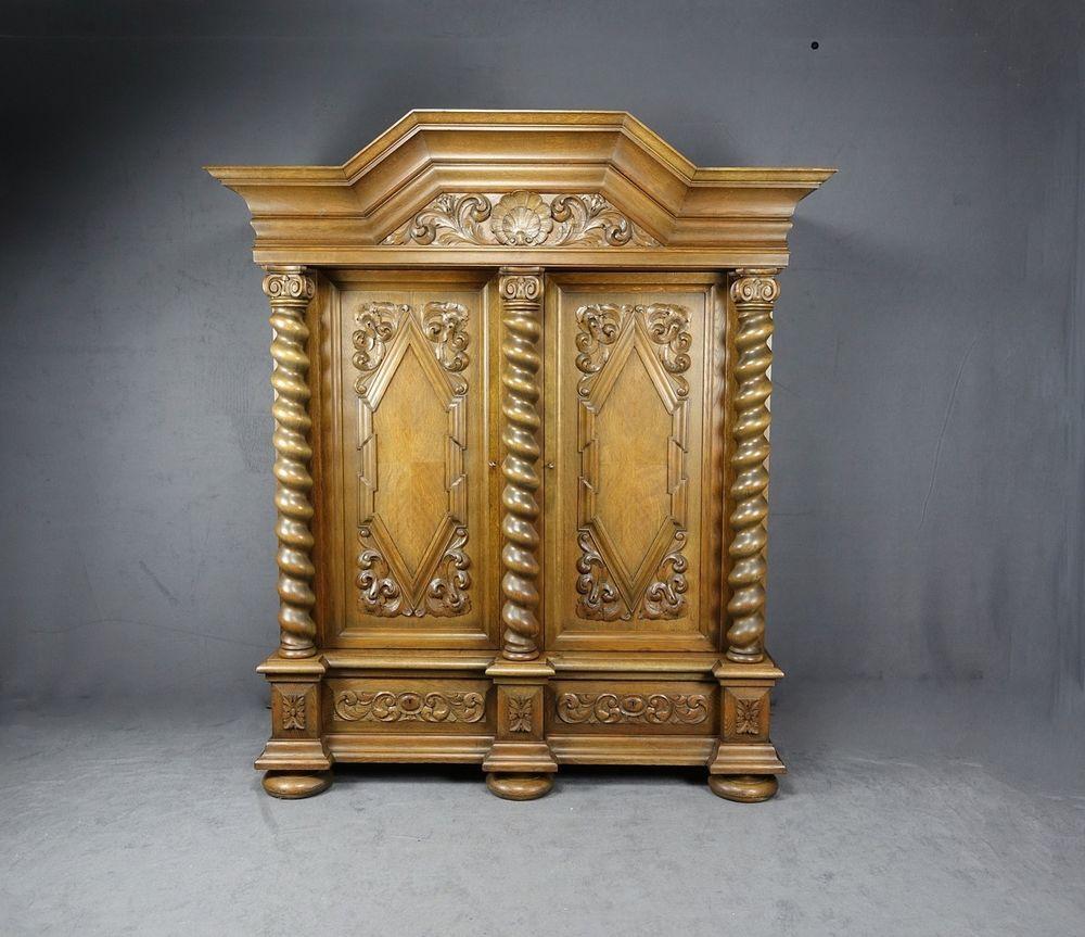 details zu danziger barockschrank barock schrank mit. Black Bedroom Furniture Sets. Home Design Ideas