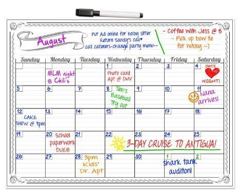 Smart Planner S Monthly Magnetic Refrigerator Calendar Dry Erase