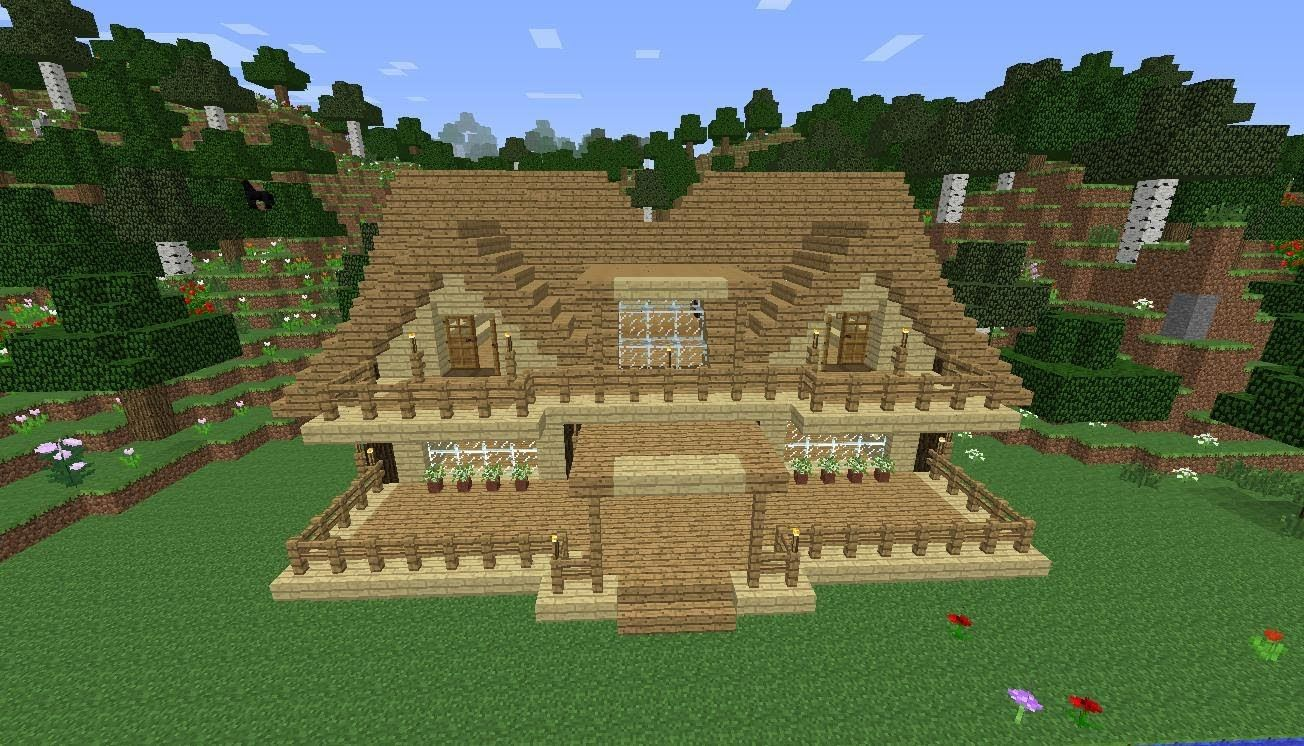 how to make a wooden roof in minecraft
