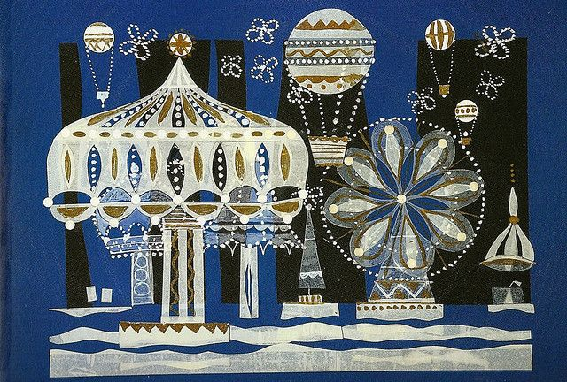 """Illustration and design for """"It's a Small World"""" by Mary Blair"""