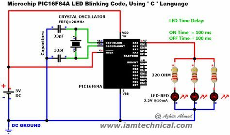 Microchip pic16f84a three leds blinking code using c language microchip pic16f84a three leds blinking code using c language time delay ccuart Images