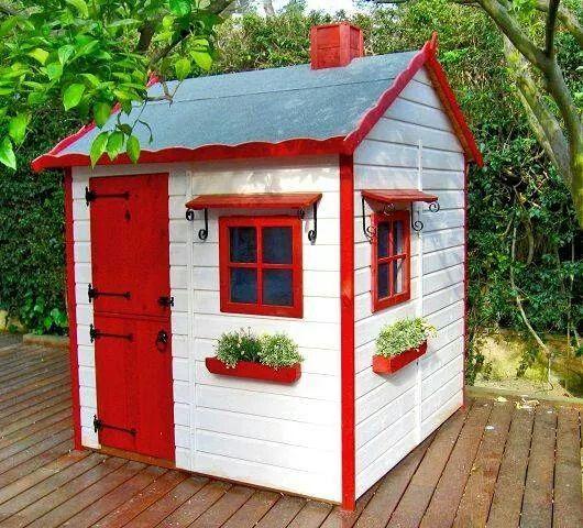 Qu linda casita juegos para mi dulce alma pinterest for Casita plans for backyard