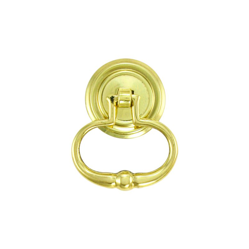 "Unlacquered Brass Ring Handle 1 1/2"" ~ by Whitechapel Ltd"