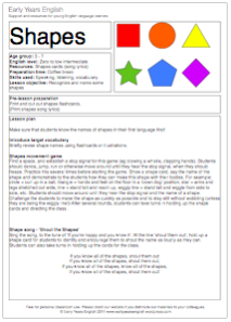 Basic Shapes Shapes Lessons Teaching Shapes Math Lesson Plans