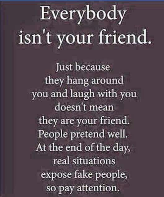 Not everyone is your friend | Favorite quotes | Quotes, False