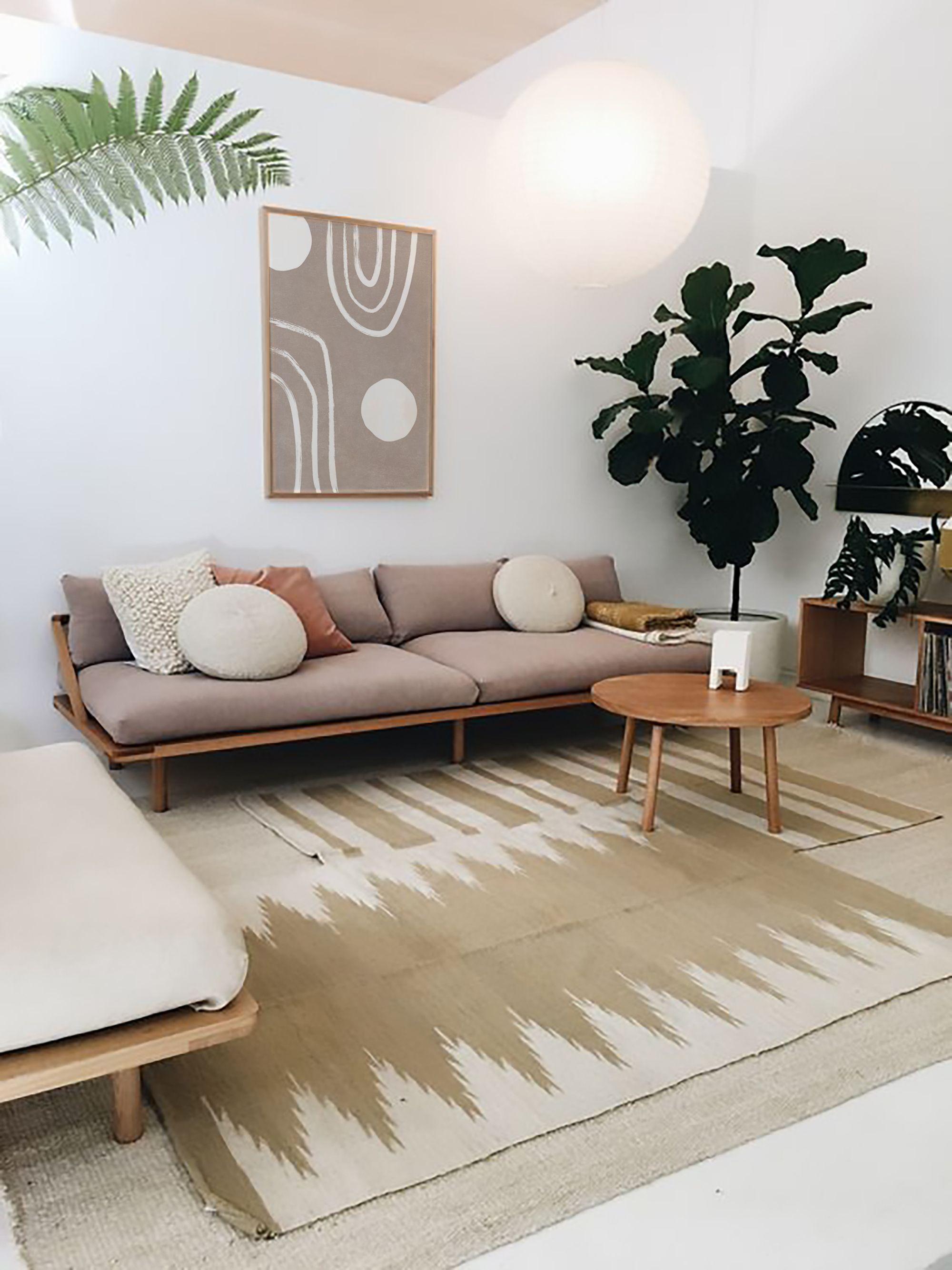 Boho White Brown Circle Line Art Modern Minimal Abstract Etsy In 2021 Living Room Scandinavian Home Decor Bedroom Living Room Wood