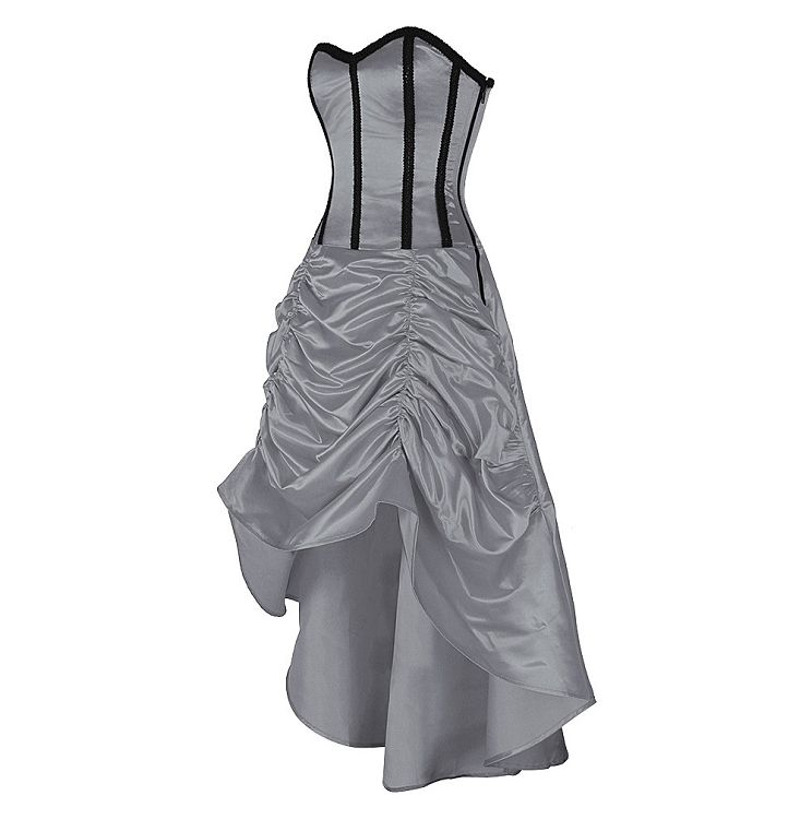 £85.00 US $126.08 Silver Corset Dress   Corset Dresses