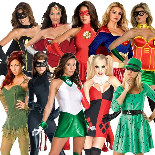 Ladies Adult Licensed Superhero Fancy Dress Costume