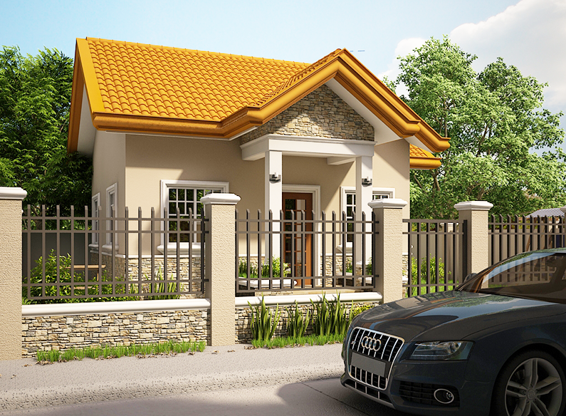 Small Houses Design Sunny Roof Terrace With A Pyramid Shape And Generally Home In The Tropics With A Fro Small House Design House Fence Design House Blueprints