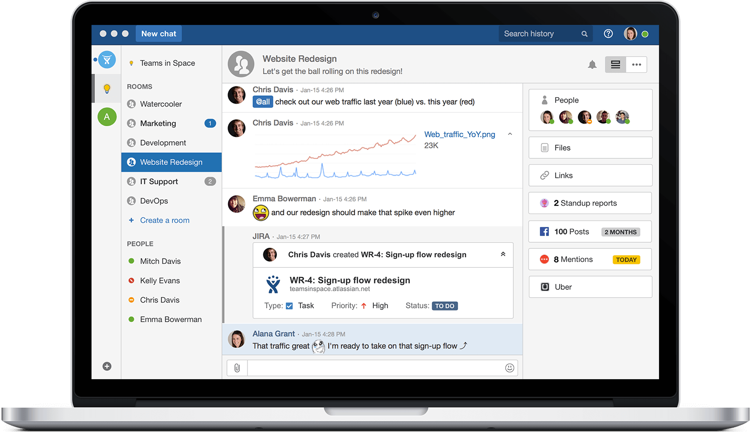 HipChat is group chat, file sharing, video chat & screen