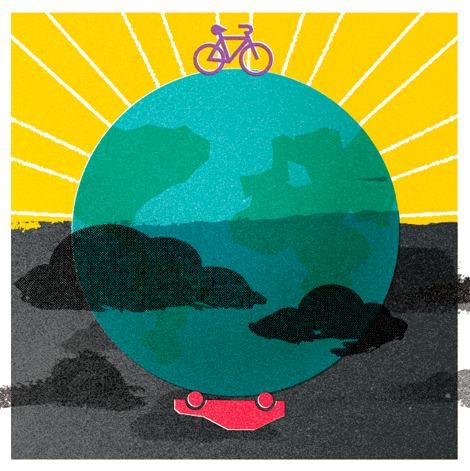 Beautiful! Ride your bike or walk when taking short trips to reduce your carbon footprint. Sign up for I Ride Green to learn more! http://www.greeneducationfoundation.org/i-ride-green-sub.html
