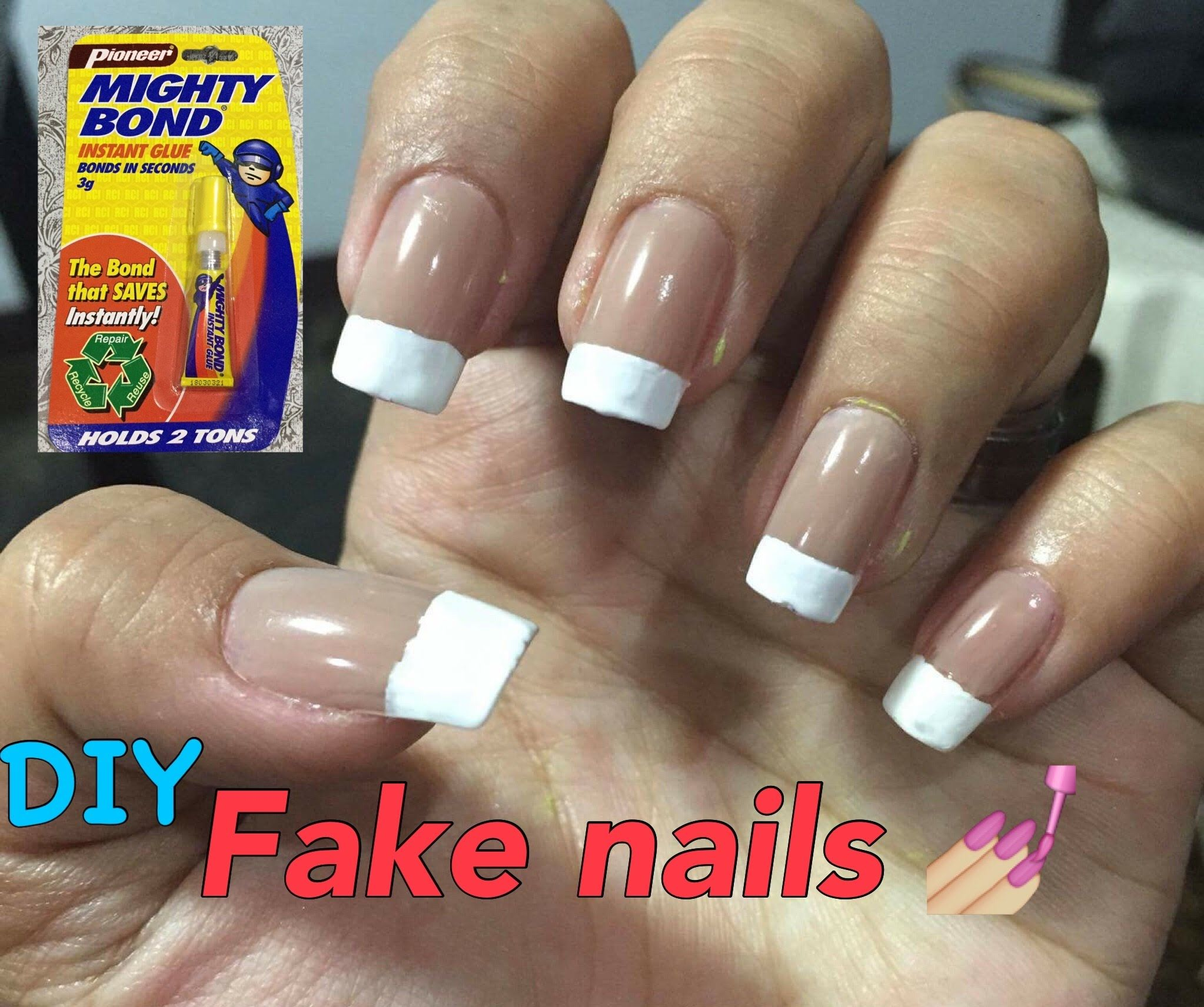 Diy Fake Nails How To Attach Remove No Nail Glue No Acrylic Kikay Glue On Nails Nails Fake Nails