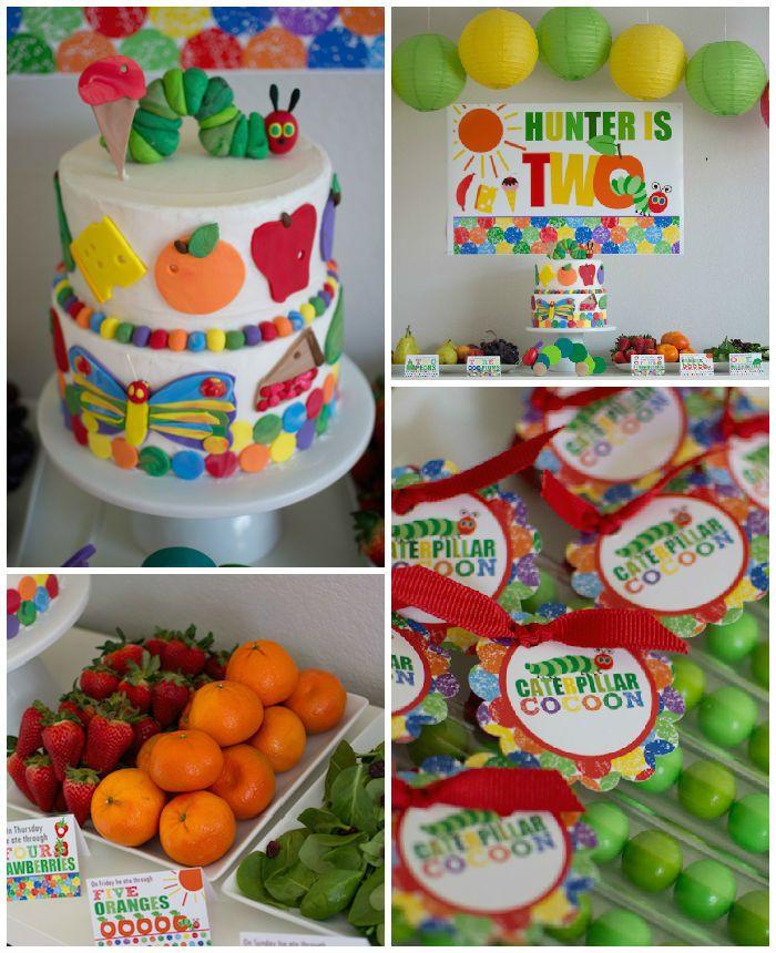 Very Hungry Caterpillar 2nd Birthday Party (karaspartyideas.com ...