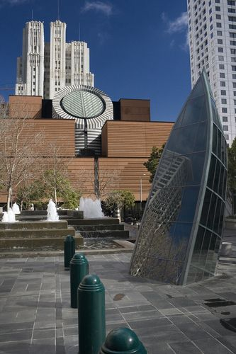 Looking towards the Museum of Modern Art, San Francisco