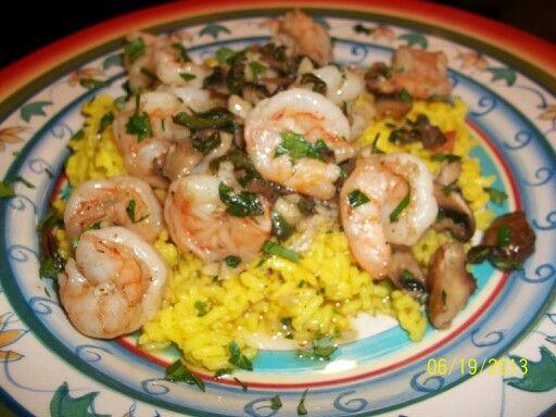 Garlic Shrimp and Safron Rice
