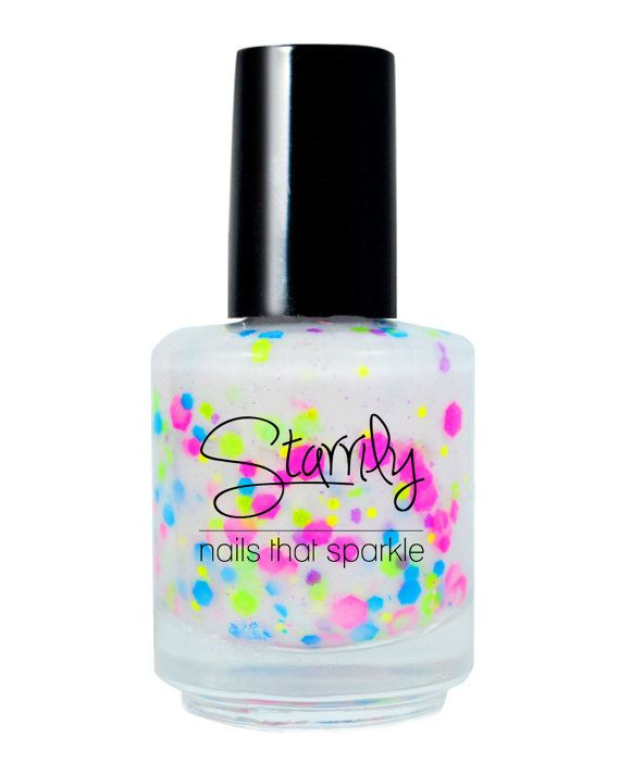 Birthday Cake Neon Handmade Nail Polish Full Bottle By Starrily 900 This Indie Brings Back Memories Of The 80s