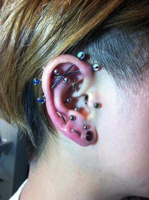 Intense Piercings Ear Piercings Multiple Ear Piercings