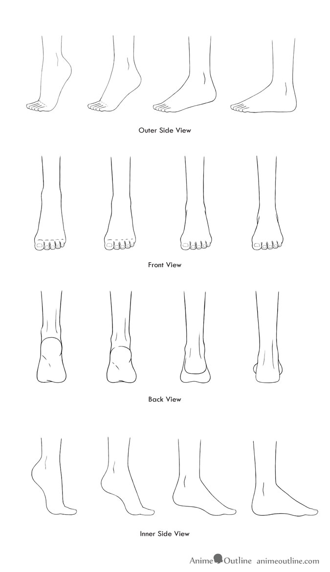 How to Draw Anime and Manga Feet in Different Positions