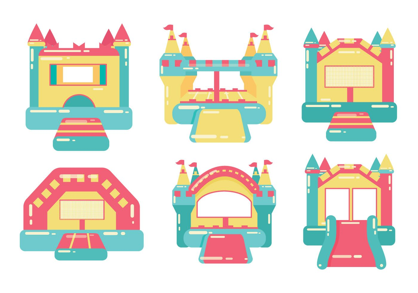 hight resolution of bounce house vector