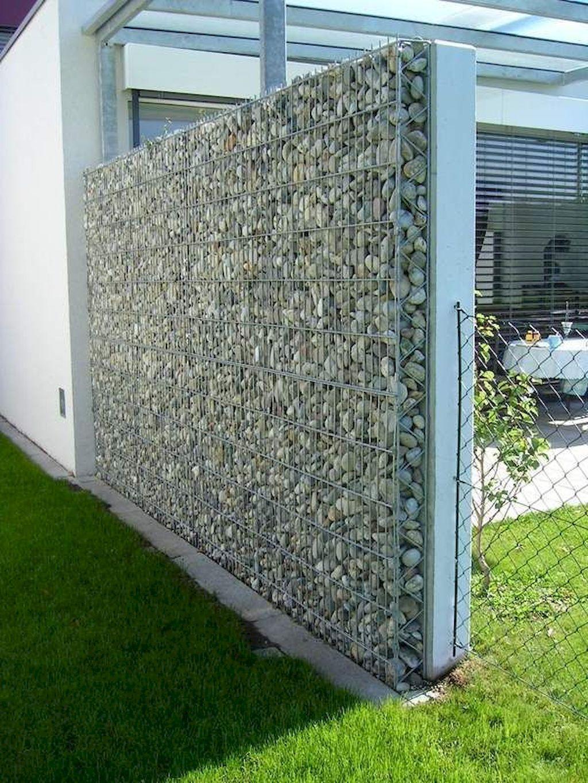 50 Gorgeous Gabion Fence Design For Garden Ideas Decoradeas House Fence Design Garden Wall Designs Fence Design