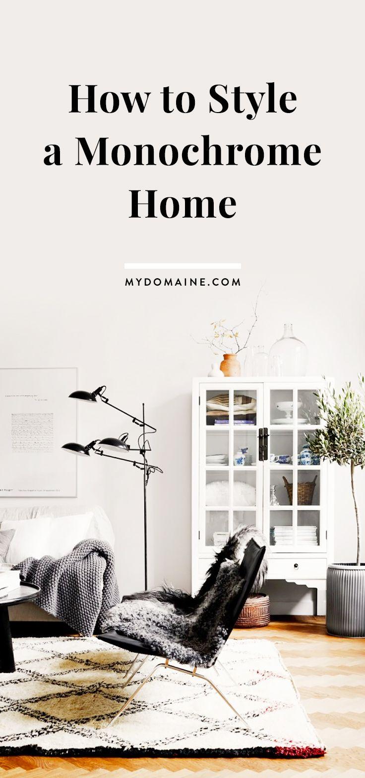 Monochrome living room decorating ideas
