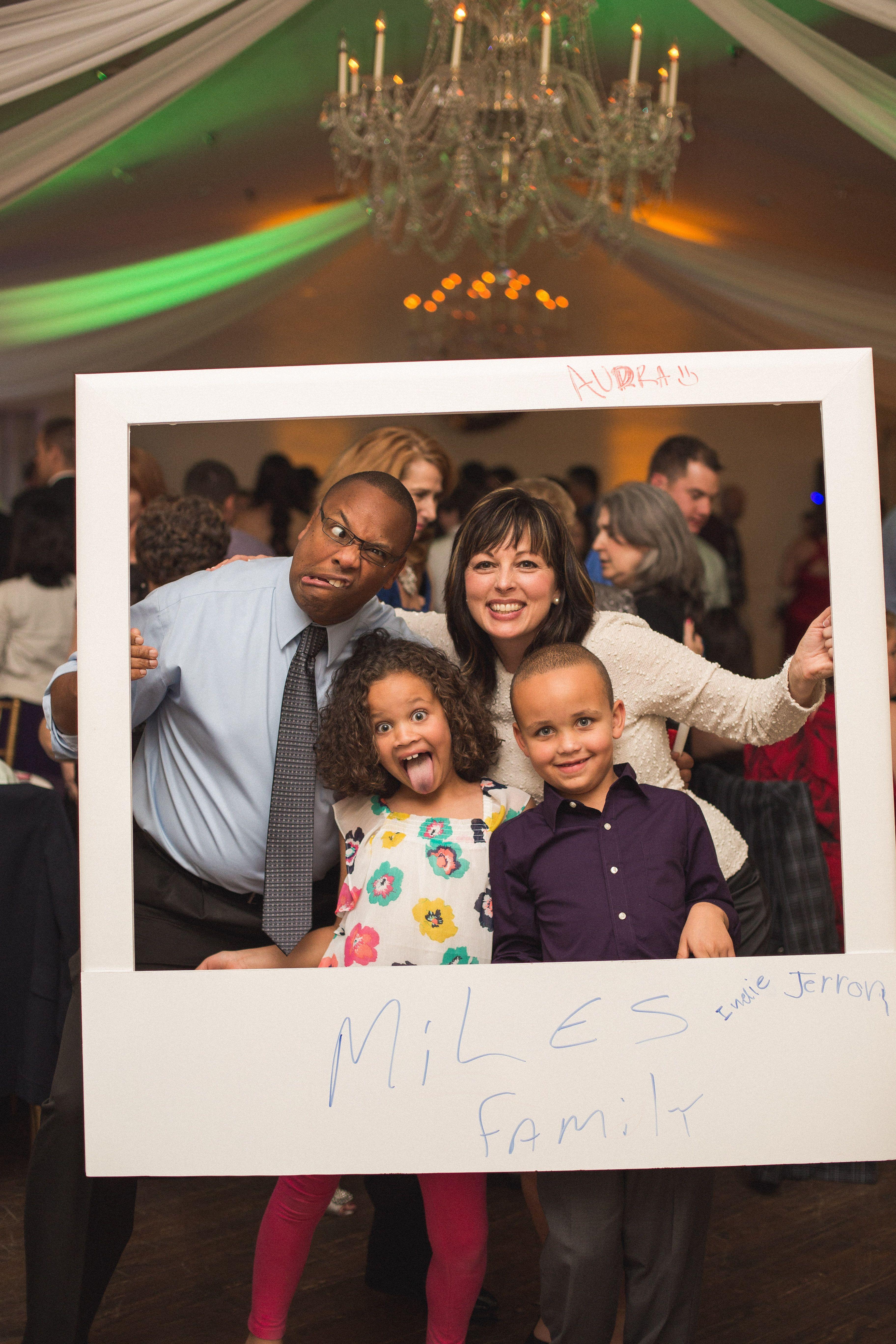 DIY Polaroid Frame instead of a photo booth. | My (Actual) Wedding ...