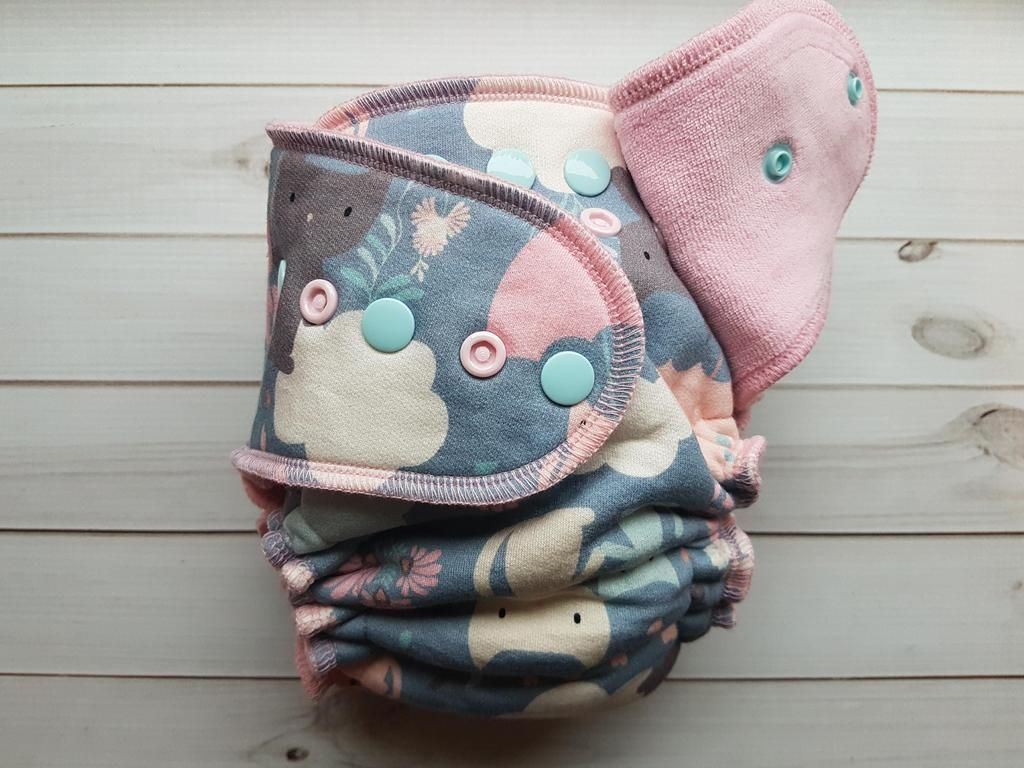 Kitten friends fitted cloth diapers