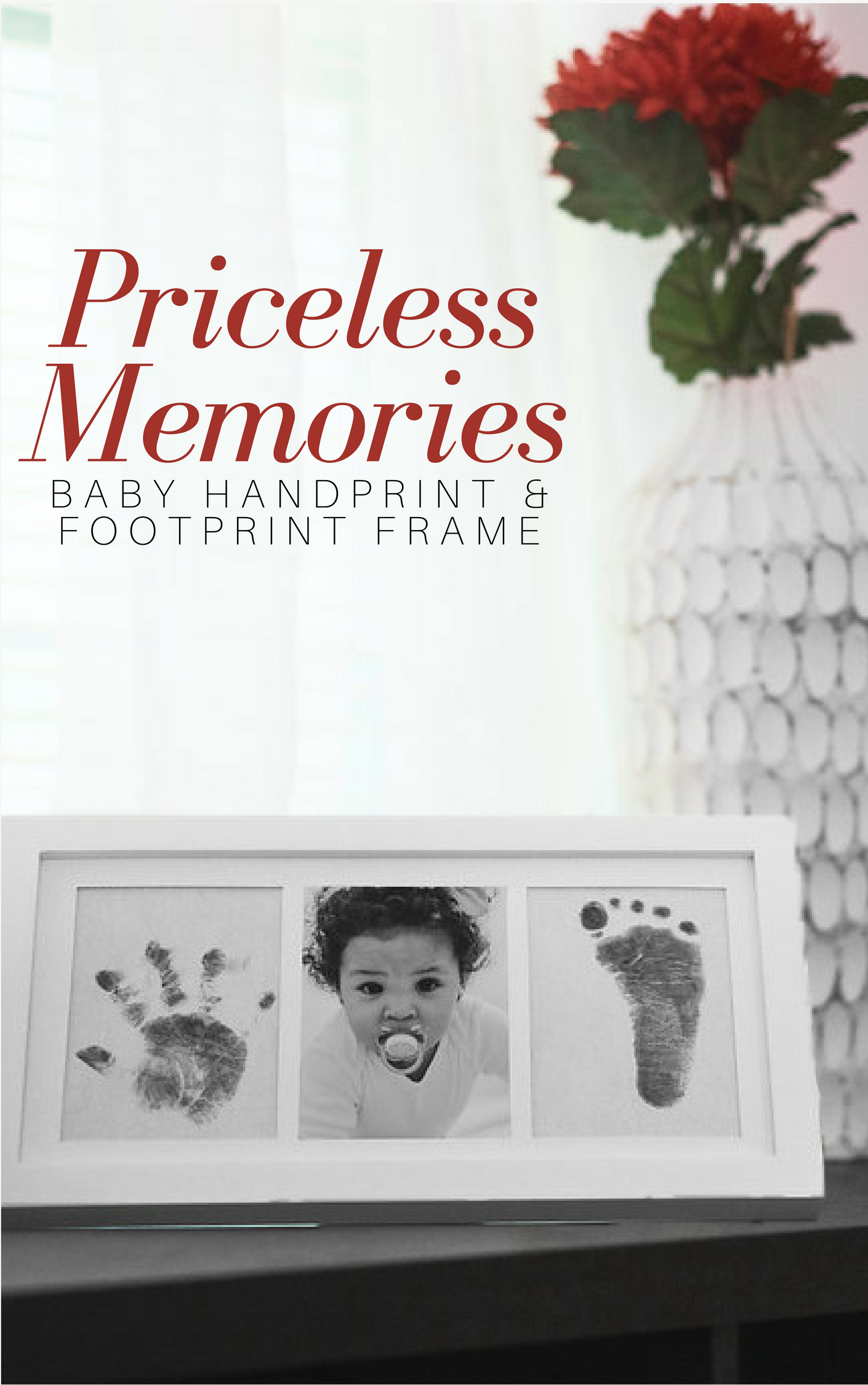 The baby footprint ink kit from bubzi co is an easy diy project and perfect baby keepsake gift for new parents or grandparents