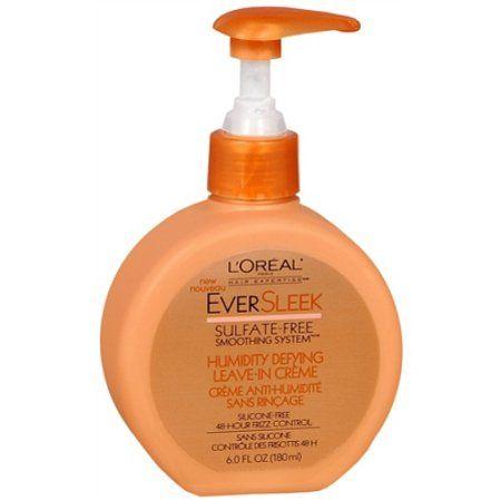 L'Oreal Paris EverSleek Sulfate Free Humidity Defying Leave-In Creme - Walmart.com