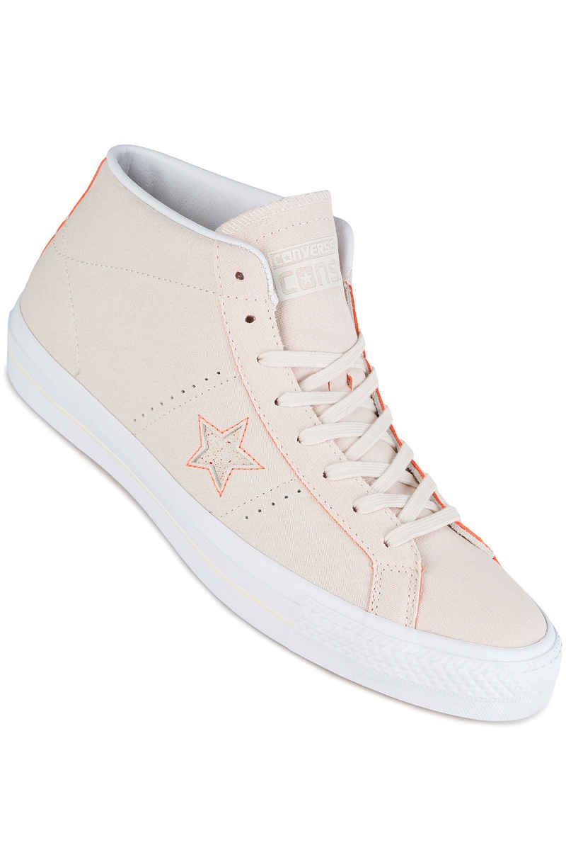 online retailer d11cb c75a9 Converse One Star Pro Mid Shoes in natural hyper orange white    skatedeluxe   sk8dlx