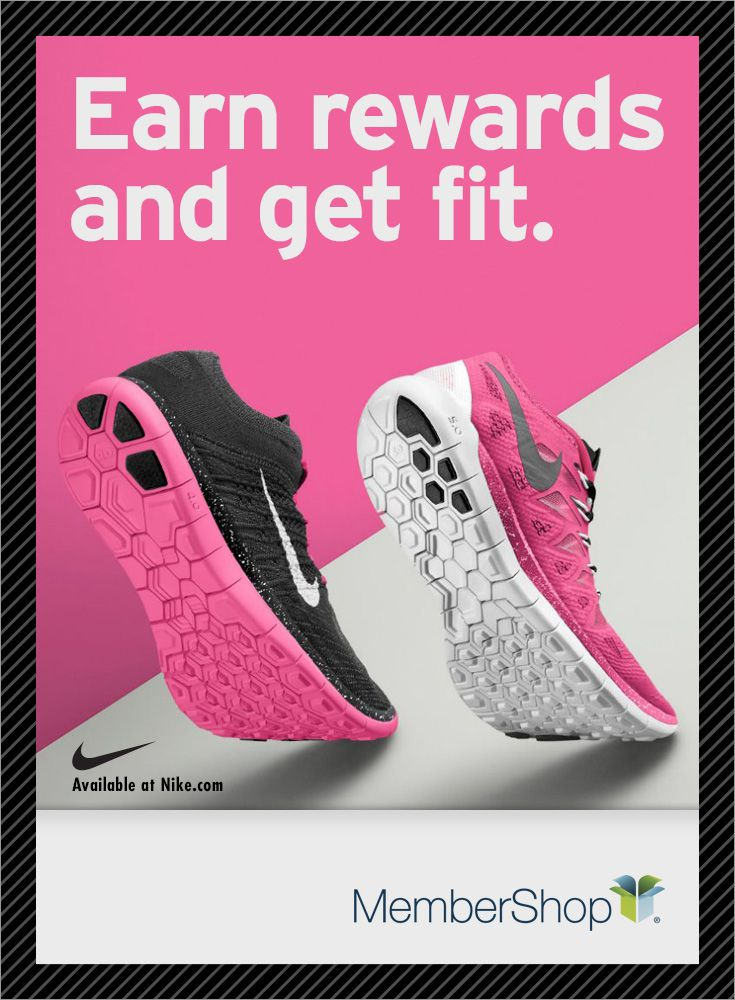 hot sale online 487d0 3ebe0 Get fit and earn rewards when you shop top at top stores, like Nike,  online at MemberShop.
