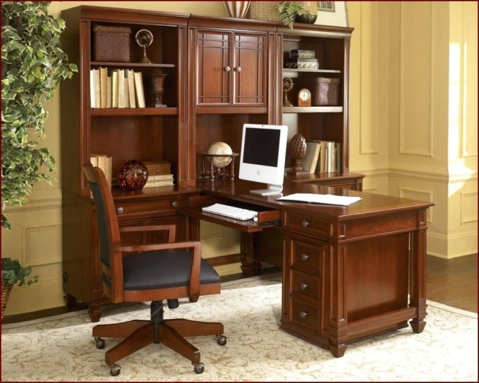 Custom Made Traditional Mahogany Wall Unit Home Office Desk Home Office Cabinets Wall Unit Home Office Furniture Sets