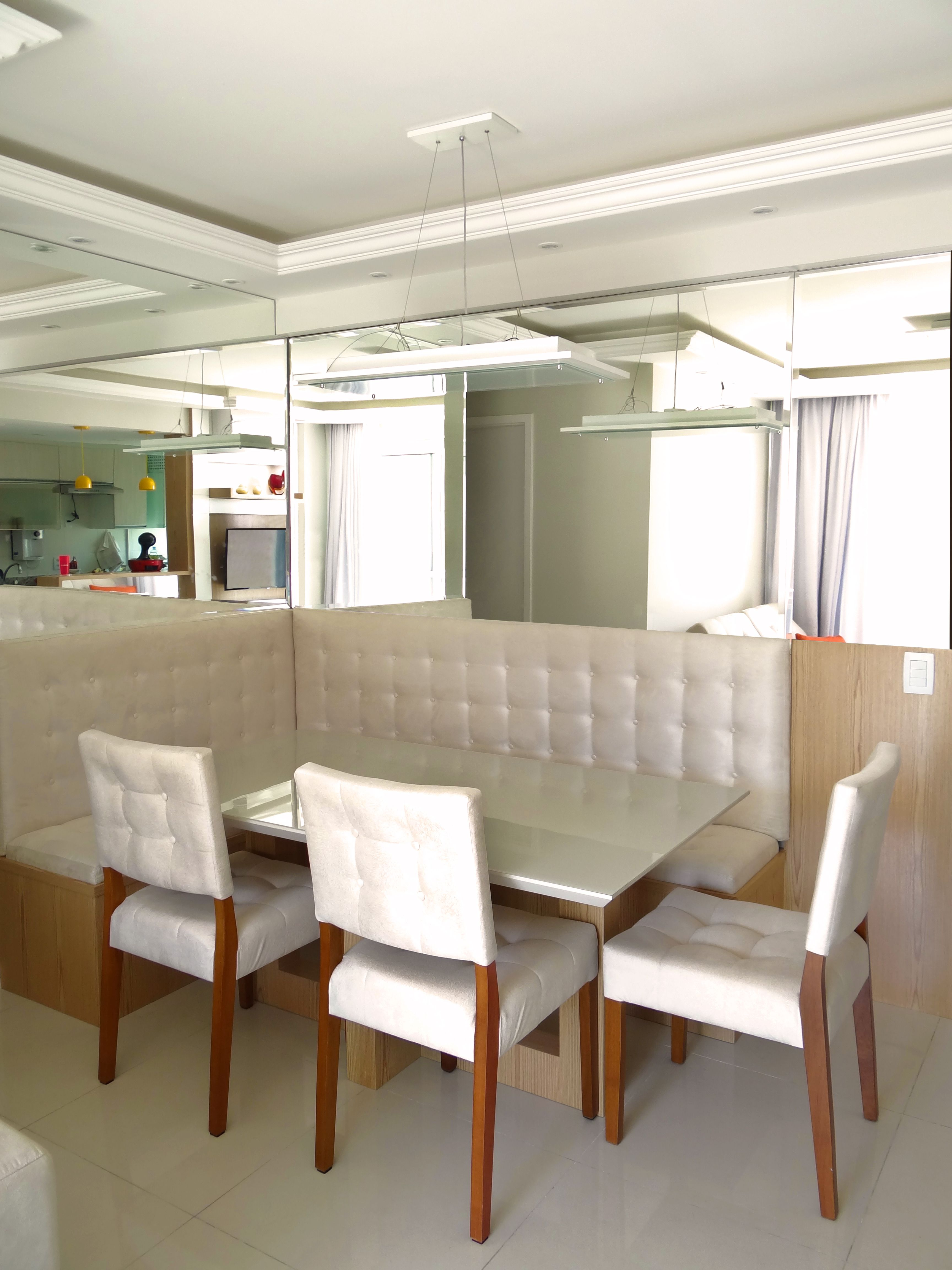 Esta Sala De Jantar Ficou Um Sonho De Madeira Laca Vidro Pintado