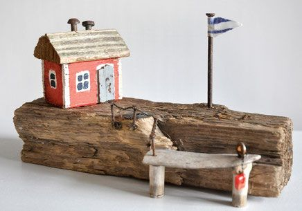 Treibholz Driftwood Art Kunst Verwandschaft Metallschrott Nagel Zaun