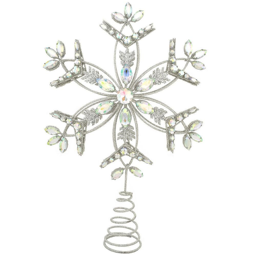 15 Inch Snowflake Wire Tree Top With Acrylic Gems $36.99