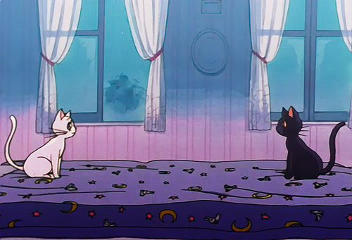 Sailor Moon- Artemis and Luna imitating the Southern Oracle from The Neverending Story ;P